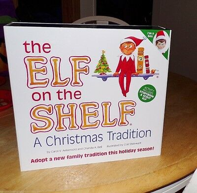 IN BOX The Elf on the Shelf A Christmas Tradition Boy Elf Doll and Hardback Book