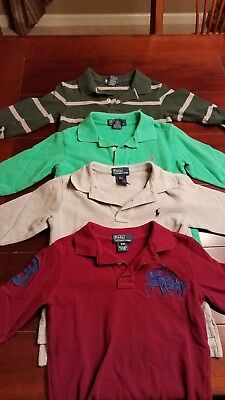 Polo by Ralph Lauren Baby Boy Toddler Top Polo Long Sleeve Size 3/3T Lot4 Shirt