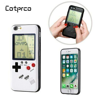 Real Working Retro Gameboy w/ Tetris 9 Games Case Cover For iPhone X 8 7 6 Plus