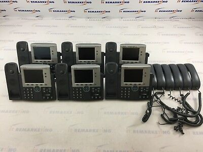 Lot (6x) Cisco 7945 CP-7945G VoIP IP Color Digital Display PoE Business Phones