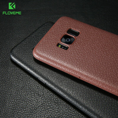 Luxury TPU Ultra Slim Leather Case Cover For Samsung Galaxy S9/S8+ Plus