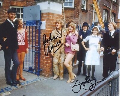 1970's TV comedy PLEASE SIR! David Barry & Peter Cleall signed 8x10 photo