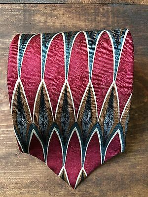 Cocktail Collection Scotch Mens Necktie-Tie-Fashion Accessory-100% Silk-Red-Gold