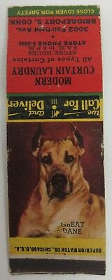 Great Dane - Modern Curtain Laundry Matchbook Cover