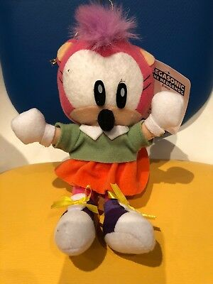 Sonic The Hedgehog Rare Amy Rose Plush 1994 Official Sega Japanese Tagged