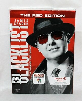 The Blacklist: The Complete Third Season (DVD, 5-Disc Set) The RED Edition New