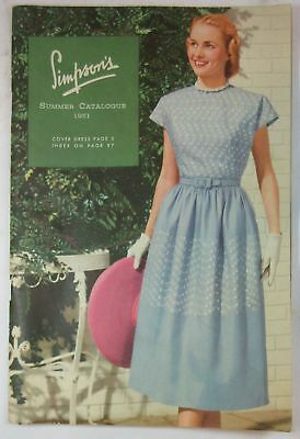 1951 Simpson's Summer Catalogue - Roy Rogers clothing on back cover
