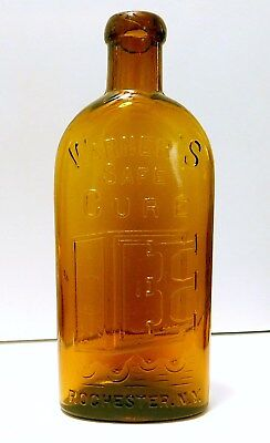 Warner's Safe Cure - Small -Root BeerAmber - Authentic Antique Bottle - Mint