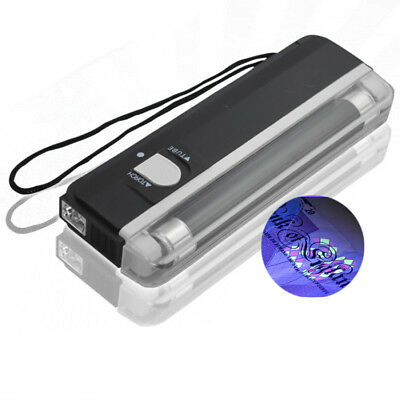UK STORE UV Handheld Note Checker Money Tester Black Light Counterfeits Forged