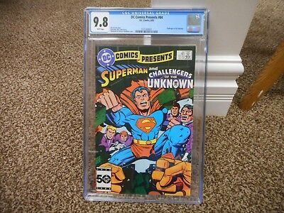 DC Comics Presents 84 cgc 9.8 Superman Challengers of the Unknown 1985 MINT WHIT