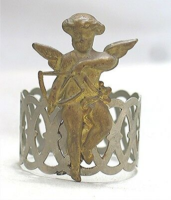 Vintage Napkin Ring with Cupid