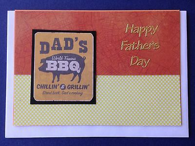 1 Hand made card. Happy Father's Day. Postage $2 for 1 to 6 cards.