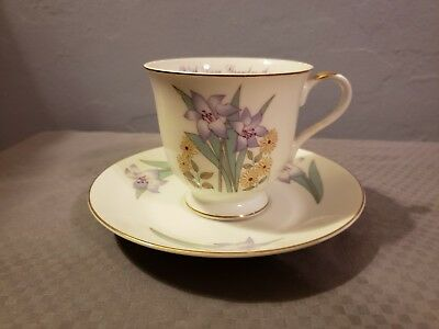 Vintage Russ Berrie With Love Grandmother Lily flower Tea Cup and Saucer Set