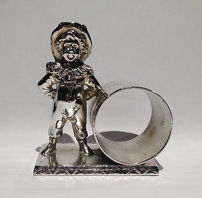 Antique Silverplate Figural Napkin Ring Kate Greenaway Boy