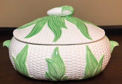 Vintage Corn Cob Covered Serving Dish Tureen