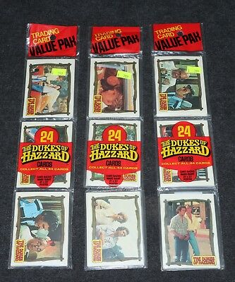 Dukes of Hazzard Donruss Trading Cards 24 Value Pack x3 Unopened 1981