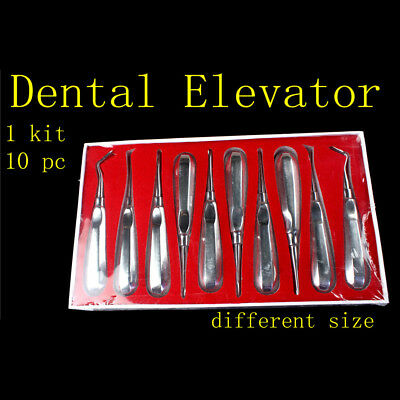 3X10Pcs Stainless Steel Dental Elevator Oral Tooth Loosening Root Extraction Kit