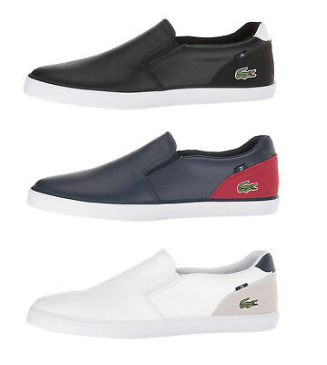 Lacoste Jouer Slip 318 2 Men's Casual Loafer Shoes Sneakers Black Blue White