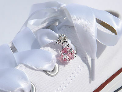 Crystal Shoe Charms for extra Bling for your Customised White Wedding Trainers