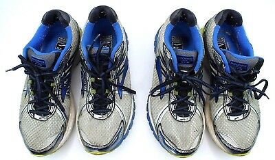 Two Pair Brooks Adrenaline GTS 15 Mens Size 10 Blue Gray Running Shoes G2