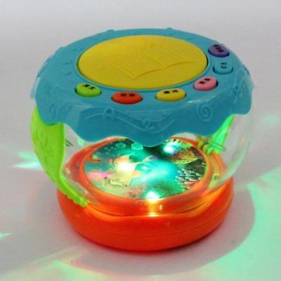 Musical Kids Drum Play Baby Child Toddler Colourful Lights Music Educational Toy