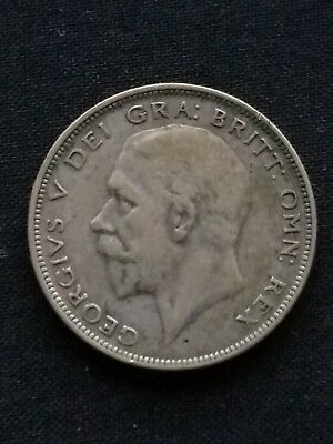 1935 Great Britain United Kingdom UK King GEORGE V Silver Half Crown Coin