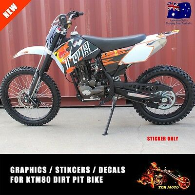 New Full Graphics Kit for 2006 - 2012 KTM85 KTM 85 3M TDR style Decals Stickes