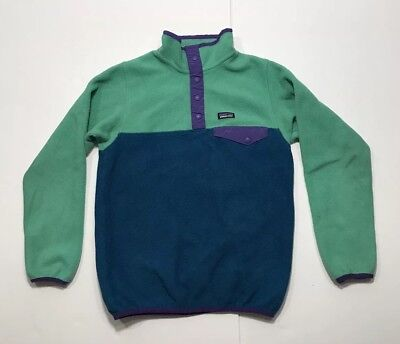 Patagonia Synchilla Fleece T Snap Sweater Youth Unisex Sz 12