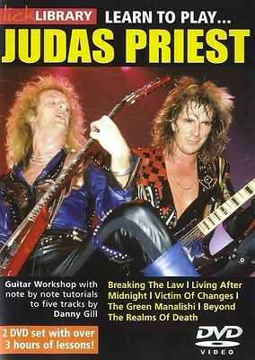 Lick Library LEARN TO PLAY JUDAS PRIEST Guitar VIDEO Lessons DVD with Danny Gill