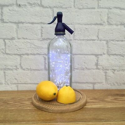 Vintage Retro Upcycled Repurposed Quirky Unique Soda Syphon Bottle Lamp