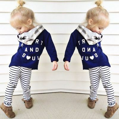 2pcs Kids Baby Cute Girls Fashion Suit Striped Tops+Shorts Kids Casual Clothes