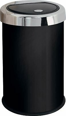 HOME 50 Litre Touch Top Kitchen Bin - Black.