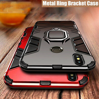 For Xiaomi Mi Mix 2S Max 3 F1 Magnetic Ring Holder Hybrid Hard Armor Case Cover