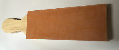 "FLAT Leather Strop Block 12x3"" Smooth & Suede Sides w or w/o handle no Compound"