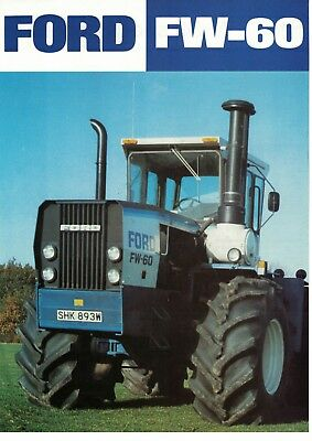 Ford FW-60 Tractor Specification Sheet Brochure / Leaflet 1980 5733F