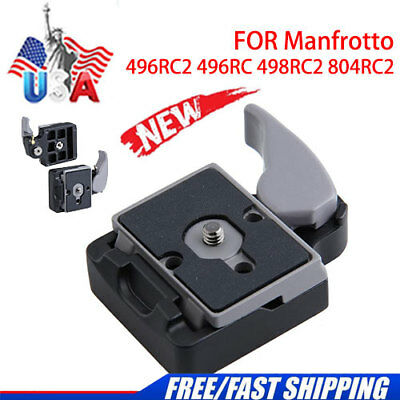 Quick Release Plate for Camera 496RC2 323 Manfrotto Ball Head Camera Mount