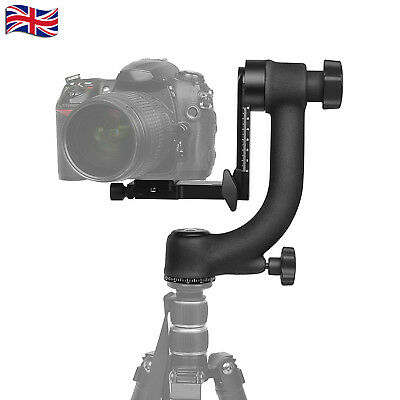 Aluminum Alloy Gimbal Tripod Head Ball Mount Tray for Camera Telephoto DSLR UK