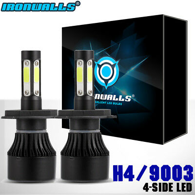4side H4 9003 1700W LED Headlight Conversion Kit 6000K 255000LM Bulb Hi-Lo Beam
