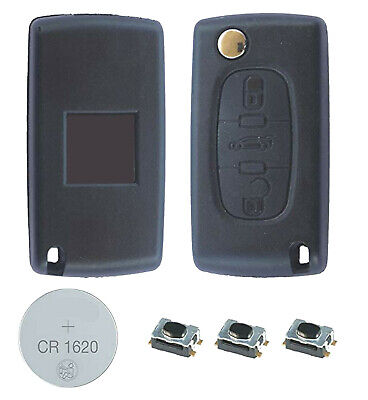 03B Fits Peugeot 407 3 Button KEY FOB REMOTE CASE Repair Fix Kit VA2 key blade
