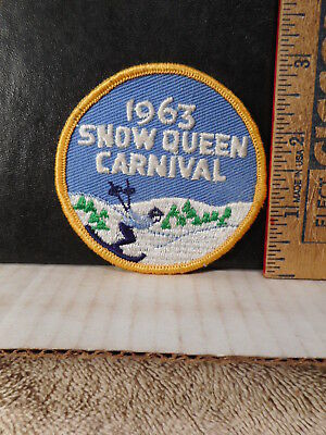 1963 Snow Queen Carnival Patch  Skiing,  Scout Related?  1022TB.