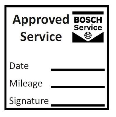 APPROVED GARAGE SERVICE STAMP (BOSCHE) - 28mm x 28mm