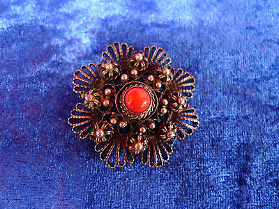 Very Nice, Old Brooch__Handmade__800 Silver__with Pearl ( W. Coral )_