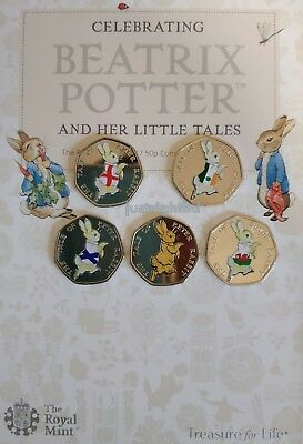 Peter Rabbit 50p Coin 4 Nations England Ireland Scotland Wales Beatrix Potter