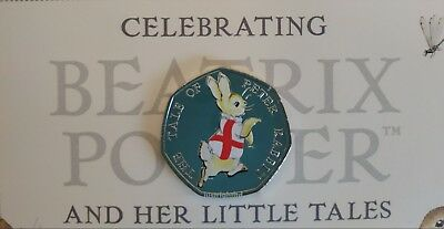 Beatrix Potter Peter Rabbit 4 Nations 50p 2017 Coins with stickers England