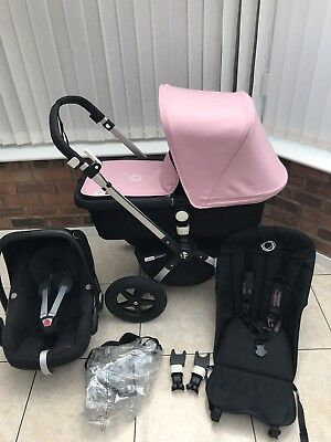 Bugaboo Cameleon 3 Black Pastel Pink With Car Seat POST WITHIN EU