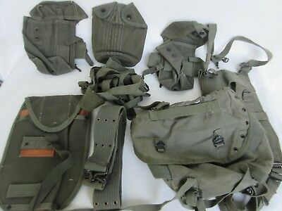 US Army M56 Tragesatz Suspender Shovel Cover Mag Pouches Belt Butt Pack Cover ..