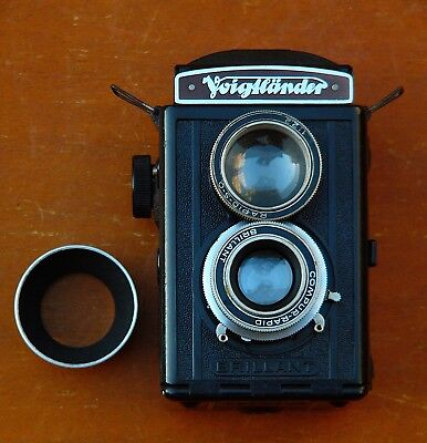 Voigtlander Brillant With Heliar; Complete, Working, With Yellow Filter & Meter