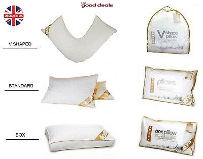 Luxury Goose Feather And Down Orthopedic Pillow Standard box and V Shaped