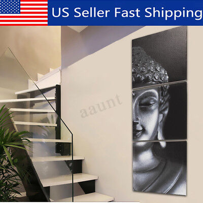 3Pcs/Set Framed Buddha Art  Picture Canvas Print Painting Wall Abstract Decor