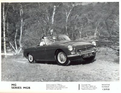 MG MGB c.1963/64 original official press photo